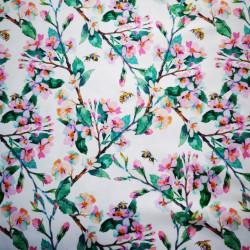 Cseresznyevirág PUL anyag modern mosható pelenka készítéséhez
