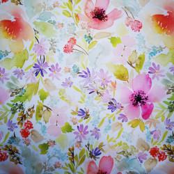 Camp cu flori material PUL pentru scutece textile moderne
