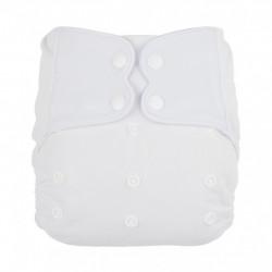 Fehér ElfDiaper pelenka (széles nyílású zsebbel + hasi szivárgásgátlóval)