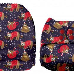 Karácsonyi lajhár MamaKoala pelenka (széles nyílású zsebbel)