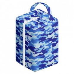 Print militar albastru - saculet mare ElfDiaper 27x17x17cm