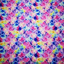 Solzi roz material PUL pentru scutece textile moderne
