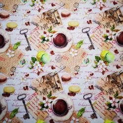 Kávé párizsban PUL anyag modern mosható pelenka készítéséhez