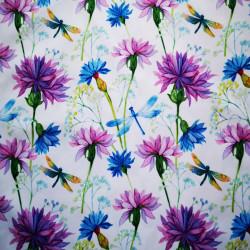 Flori de camp mov material PUL pentru scutece textile moderne
