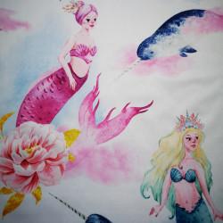 Lumea sirenelor material PUL pentru scutece textile moderne