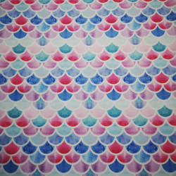 Kék-piros pikkelyek PUL anyag modern mosható pelenka készítéséhez
