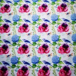 Panseluta si hortenzie material PUL pentru scutece textile moderne
