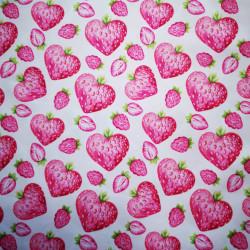 Szeretem az epret PUL anyag modern mosható pelenka készítéséhez
