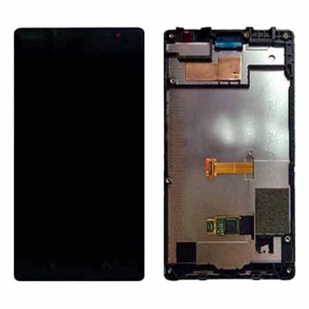 Poze Display touchscreen rama Nokia X2 Dual Sim RM-1013 negru