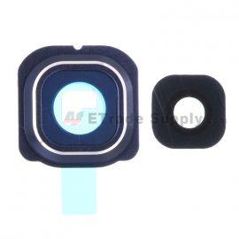 Ornament geam camera Samsung S6 edge G25F albastru
