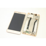 Ansamblu display touchscreen rama Xiaomi Redmi 3 gold swap