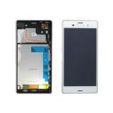 Ansamblu display touchscreen rama Sony Xperia Z3 alb