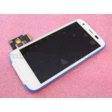 Ansamblu display touchscreen rama Motorola Moto G LTE XT1039 alb swap