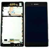 Ansamblu display touchscreen rama Sony Xperia Z3 Plus negru