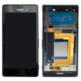 Ansamblu display touchscreen rama Sony Xperia M4 Aqua Dual Sim negru