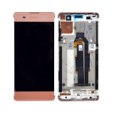 Ansamblu display touchscreen rama Sony Xperia XA F3111 rose gold
