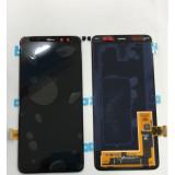Display Samsung Galaxy A730 A8+ (2018) negru