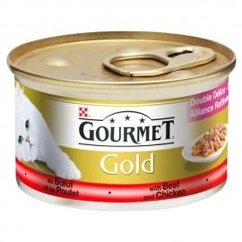 GOURMET Gold GOVEDINA i PILETINA 85gr