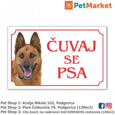 tabla upozorenja cuvaj se psa petmarket petshop podgorica crna gora