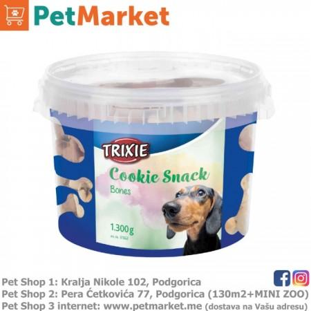 Trixie Kolačići za pse u obliku koskice, kantica 1,300g