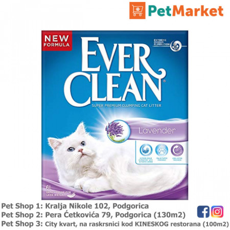 EVER CLEAN Posip za mačke LAVENDER 6L