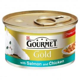 GOURMET Gold Losos i Piletina 85gr
