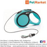 KERBL Flexi povodac New Comfort Blue S 5m Cord