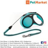 KERBL Flexi povodac New Comfort Blue M 5m Cord