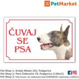 """Tabla upozorenja """"ČUVAJ SE PSA"""" Bull Terrier"""