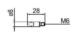 Duza curent 0.8mm pentru aluminiu 141.0001