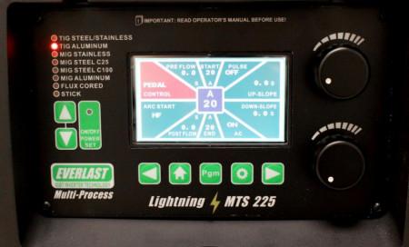 Everlast MTS 225Sti AC/DC 1-phase 230V