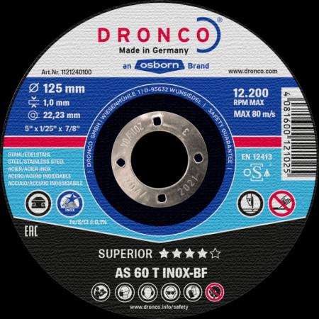 Disc debitare DRONCO AS60T INOX-BF 125