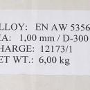 Sarma aluminiu AlMg5 1,0mm