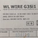 Sarma sudura SG2/G3Si1 - 1.0mm - 5 kg