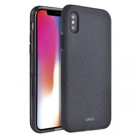 Гръб UNIQ Lithos - iPhone X / XS черен