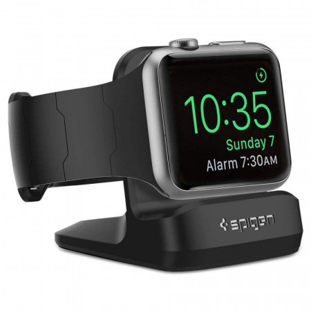 Нощна стойка за Apple Watch Spigen S350 1/2/3/4 черен