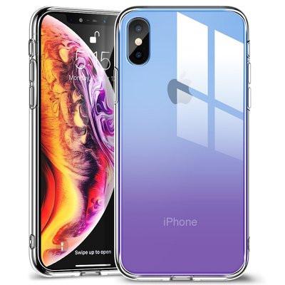 Гръб ESR MiMic - iPhone XS Max лилав-син