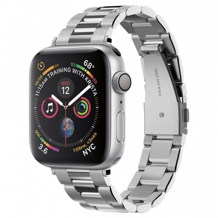 Каишка Spigen Modern Fit - Apple Watch 1 / 2 / 3 / 4 38/40mm сребърен