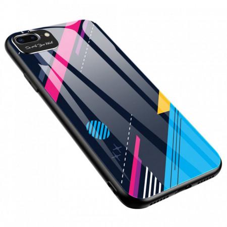 Цветен стъклен гръб с покритие за камерата - iPhone 7 / 8 / SE 2020 модел 4