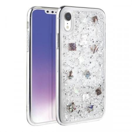 Гръб UNIQ Lumence Clear - iPhone XR сребърен