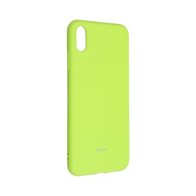 Силиконов гръб ROAR Colorful Jelly - iPhone XS Max лайм