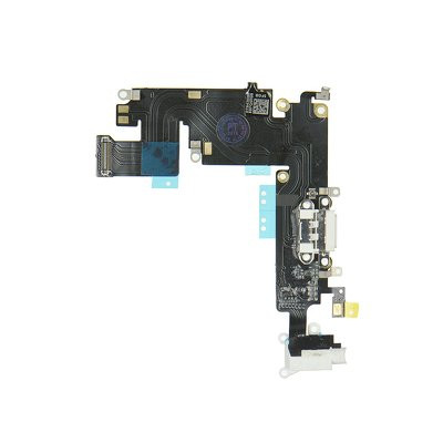 """- iPhone 6 Plus 5.5"""" Lightning Connector and Headphone Jack - space бял"""