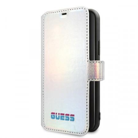 Калъф тип книга GUESS GUFLBKN58BLD - iPhone 11 Pro сребърен