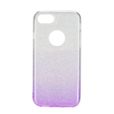 Силиконов гръб FORCELL Shining - iPhone 6 / 6s сребрист / лилав
