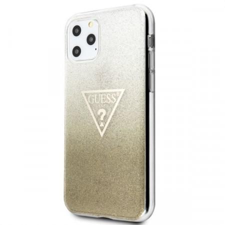 Оригинален гръб GUESS Glitter Triangle GUHCN65SGTLGO - iPhone 11 Pro Max златен