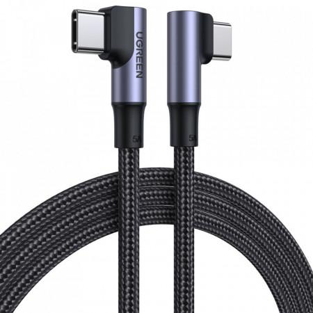 90° кабел Ugreen Type-C 2.0 (мъжко) / Type-C 2.0 (мъжко) 5A 1m