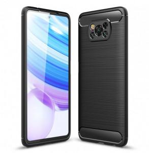 Гръб FORCELL Carbon - Xiaomi POCO X3 черен