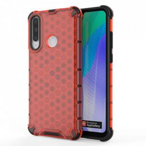 Гръб Honeycomb Armor със силиконов бъмпер - Huawei Y6p червен