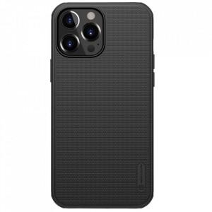 Гръб Nillkin Super Frosted Shield + стойка - iPhone 13 Pro Max черен