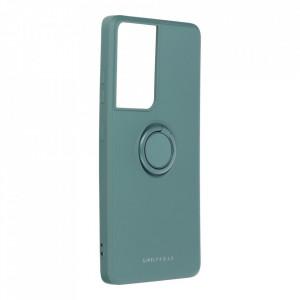 Гръб Roar Amber с държач - Samsung Galaxy S21 Ultra зелен